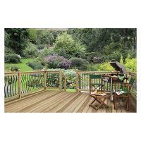 Black Metal Bow Decking Baluster Pk 5