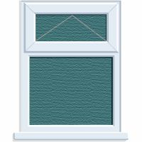 UPVC Window 1190 x 1040mm 2PTOV Obscure Glazed A Rated