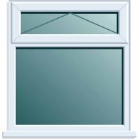 UPVC Window 1190 x 1040mm  2PTOV Clear Glazed A Rated
