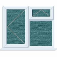 UPVC Window 1190 x 1040mm 3PTOV LH Obscure Glazed A Rated