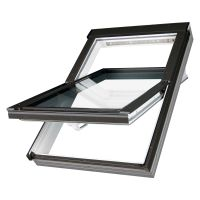 Fakro White PVC Centre Pivot Roof Window