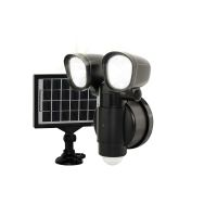 Luceco Solar twin spot light with PIR
