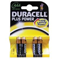 Duracell Plus AAA Batteries Pk 4