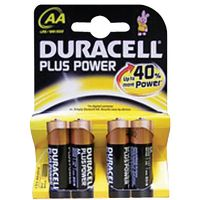 Duracell Plus AA Batteries Pk 4
