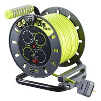 PRO XT 25m Open Cable Reel 4 Gang 13A