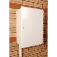 Surface Electric  Meter Box White
