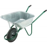 "120ltr Galvanised ""Invincible"" Wheelbarrow With Pneumatic Tyre"
