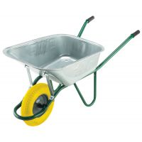 90ltr Galvanised Wheelbarrow With Puncture Proof Wheel