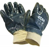 Nitrile Knit Wrist Heavy-Duty Gloves