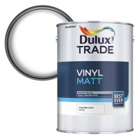 Dulux Trade Vinyl Matt Emulsion Brilliant White 5ltr
