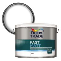 Dulux Trade Fast Matt Emulsion White 10ltr