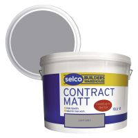 Selco Contract Matt Emulsion Light Grey 10ltr