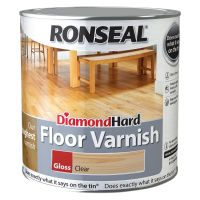 Ronseal Diamond Hard Floor Varnish Clear Gloss 5ltr