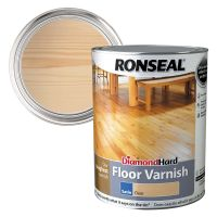 Ronseal Diamond Hard Floor Varnish Clear Satin 5ltr