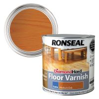 Ronseal Diamond Hard Floor Varnish Medium Oak Satin 2.5ltr