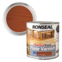Ronseal Diamond Hard Floor Varnish Rich Mahogany Satin 2.5ltr