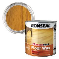 Ronseal Diamond Hard Floor Wax Natural Oak 2.5ltr