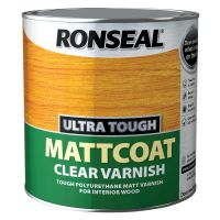 Ronseal Ultra Tough Mattcoat Varnish Clear 2.5ltr