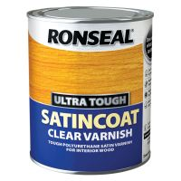Ronseal Ultra Tough Satincoat Varnish Clear 750ml