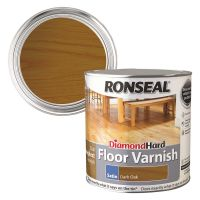 Ronseal Diamond Hard Floor Varnish Dark Oak Satin 2.5ltr