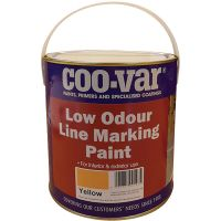 Coo Var Low Odour Line Marking Paint Yellow 2.5ltr