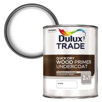 Dulux Trade Quick Drying Wood Primer Undercoat White 2.5ltr