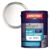 Johnstones Acrylic Eggshell Brilliant White 5ltr