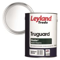 Leyland Trade Pliolite Smooth Masonry Paint Brilliant White 5ltr