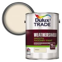 Dulux Trade Weathershield Smooth Masonry Paint Gardenia 5ltr