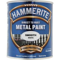Hammerite Direct To Rust Smooth Metal Paint White