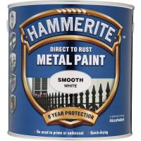 Hammerite Direct to Rust Metal Paint Smooth White 2.5ltr