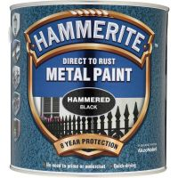 Hammerite Direct to Rust Metal Paint Hammered Black 2.5ltr