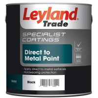 Leyland Smooth Metal Paint Black 2.5ltr