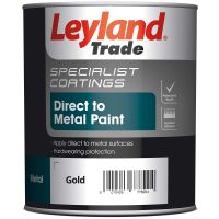 Leyland Smooth Metal Paint Gold 750ml