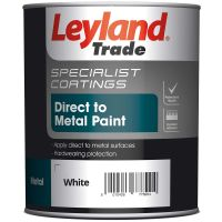 Leyland Smooth Metal Paint White 750ml