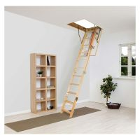 Fakro 3 Section Wooden Loft Ladder 550 x 1110mm FSC®