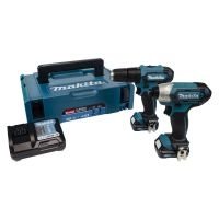 Makita 12V Combi Drill & Impact Driver Twin Pack With 2 x 2Ah Batteries