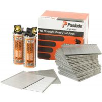 Paslode Brad Fuel Pack 19mm Galv (Pk 2000) And 2 Fuel Cells For IM65