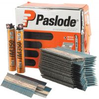 Paslode Nail Fuel Pack 63 x 2.8mm RG Galv+ (Pk 3300) & 3 Fuel Cells For IM350+