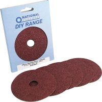 Assorted Grade 115mm Fibre Backed Sanding Discs (Pk 5)