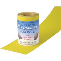 P80 Grade (Medium) Yellow Aluminium Oxide Abrasive Roll (115mm x 5m)