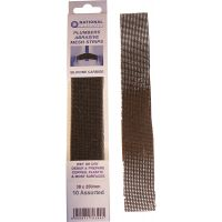 Assorted Grade 250 x 38mm Abrasive Mesh Plumbing Strips (Pk 10)