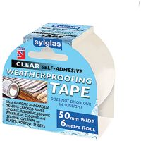 Sylglas Clear Weatherproofing Tape 50mm x 6m