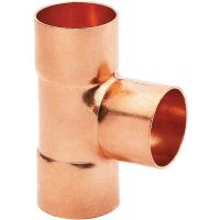 Copper End Feed Equal Tee 22mm (PK 10)