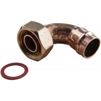 "Copper Solder Ring Bent Tap Connector 15mm x ½"" (PK 2)"