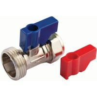 Straight Washing Machine Valve 15mm x ¾""