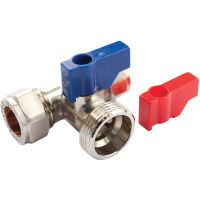 Washing Machine Valve Tee 15mm x 15mm x ¾""