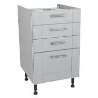 Verona Grey 500mm Four Drawer Unit