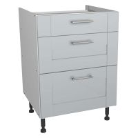 Verona Grey 600mm Three Drawer Unit