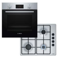Bosch Single Fan Oven and Gas Hob Pack